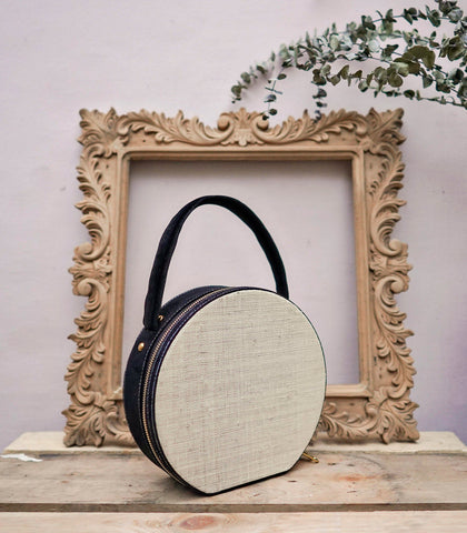 Bag - Maddy Raffia And Suede Hand Bag