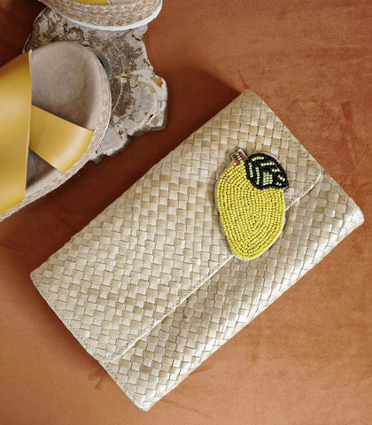 Bag - Mango Embellished Clutch