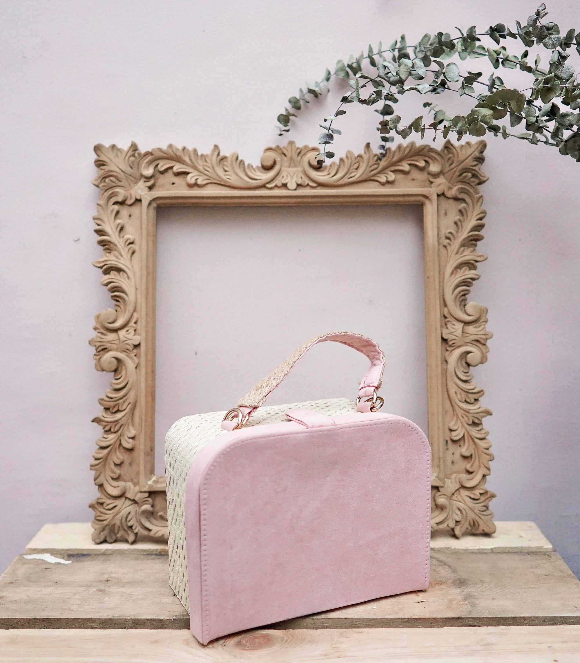 Maria Buri and Velvet Box Bag - Blush