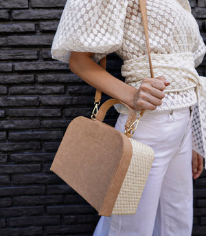 Maria Buri and Velvet Box Bag - Camel