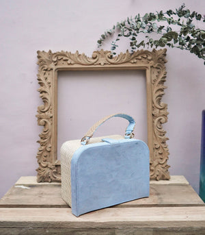 Maria Buri and Velvet Box Bag - Sky Blue