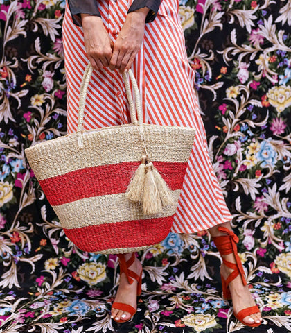 Bag - Monica Woven Beach Tote