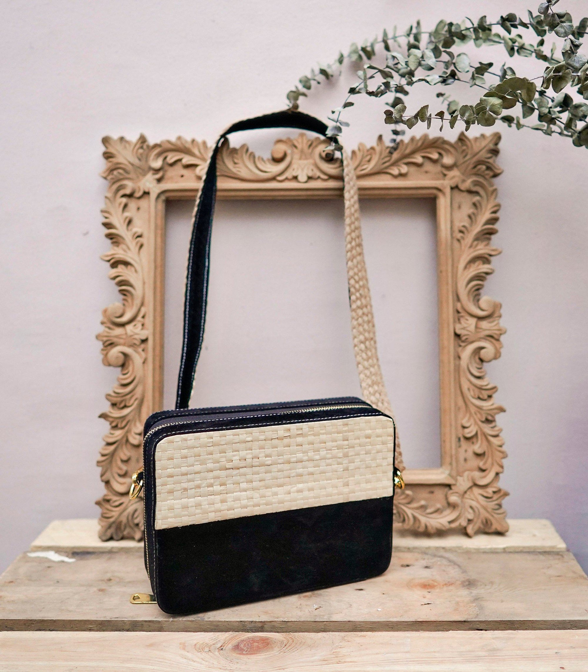 Nani Abaca and Velvet Sling Bag