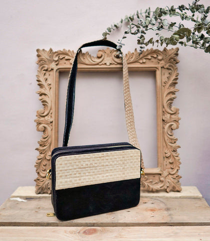 Bag - Nani Abaca And Velvet Sling Bag