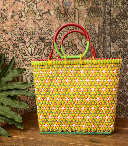 Bag - Nivya Handwoven Tote (Yellow Tone)