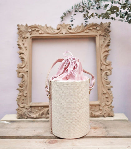 Bag - Pacita Buri And Velvet Bag - Pink Blush