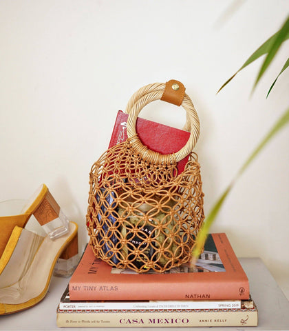 Bag - Positano Macramé Bag (Tan)