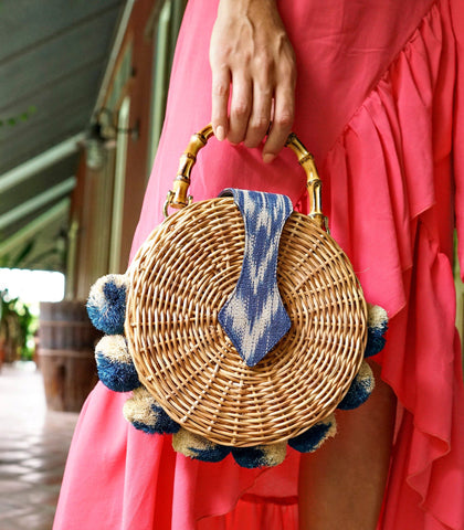 Bag - Puerto Princesa Round Wicker Hand Bag