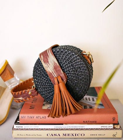 Bag - Samal Round Wicker Sling Bag