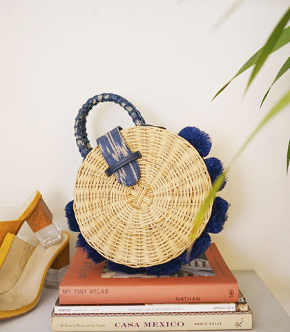 Bag - San Vicente Round Wicker Hand Bag