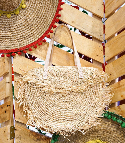 Bag - Santa Marta Fringe Straw Bag (Medium)