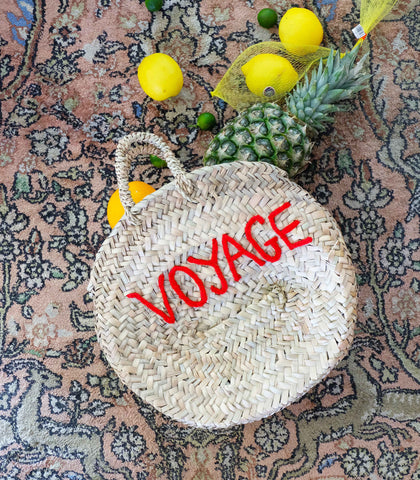Bag - Voyage Round Palm Tote