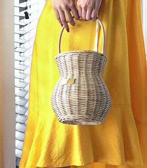 Celya Rattan Basket Bag - Natural