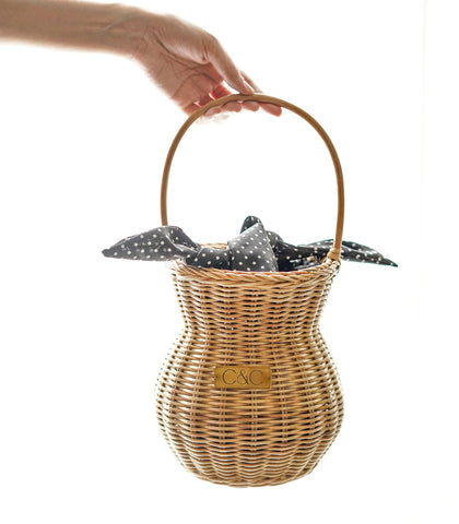 Bags - Celya Rattan Basket Bag - Natural