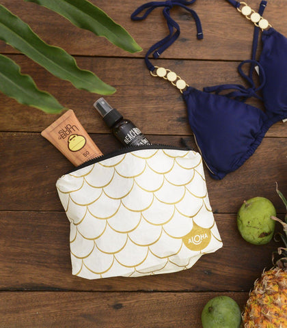 Bags - Gold Mermaid Splash-Proof Travel Pouch