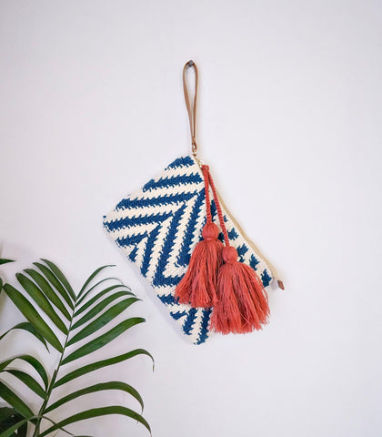 Bags - Hand Knit Cotton Clutch - Ifugao Blue