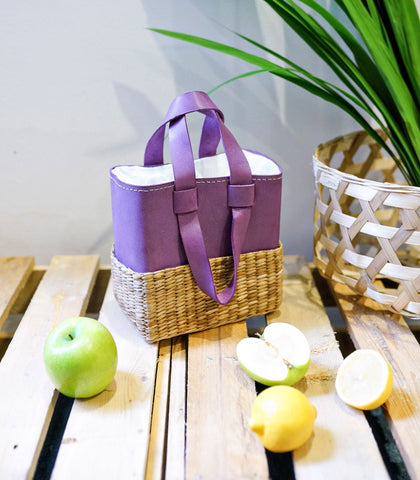 Bags - The Leather Studio Josefa Box Bag - Lavender