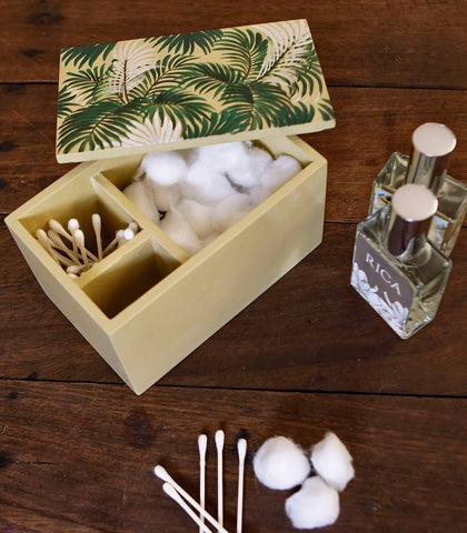 Bath Amenities - Cabana Cotton Balls & Swabs Container