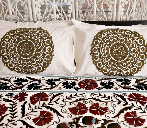Beddings - Vatika Pillow Case - Brown