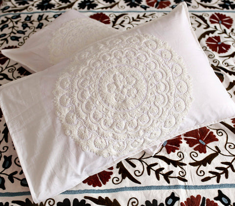 Beddings - Vatika Pillow Case - White