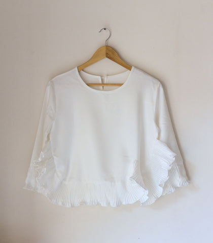 Blouse - Niceto Ruffled Hem Blouse