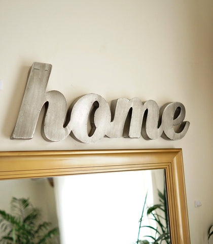 Books & Gifts - HOME Metal Wall Sign