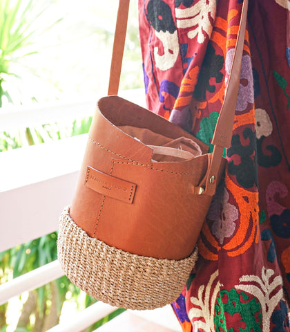 Bucket Bag - Agueda Leather Bucket Bag