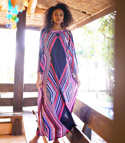 Caftan - Iconi Graphic Print Caftan