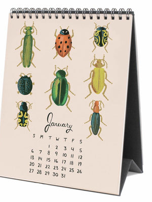 Calendar - Rifle Paper Co Midnight Menagerie 2019 Desk Calendar