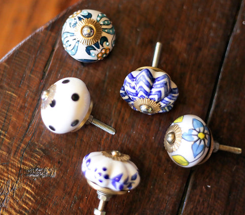 Ceramic Hardware - Round Ceramic Drawer Knob
