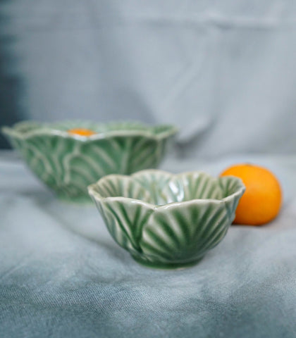 Ceramic Plate - Celadon Cabbage Leaf Sauce Bowl