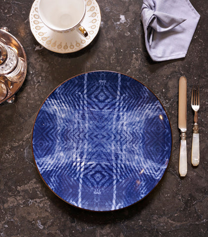 Ceramic Plate - Indigo Wash Dinner Plate