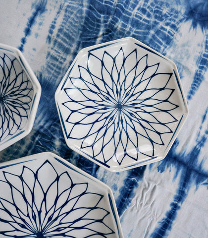 Ceramic Plate - Kyoto Floral 6-inch Plate