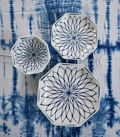 Ceramic Plate - Kyoto Floral 8-inch Plate