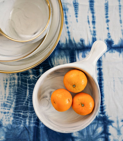 Ceramic Plate - Mito Marble Serving Dish