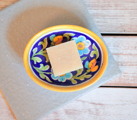 Ceramics - Blue Pottery Soap Dish