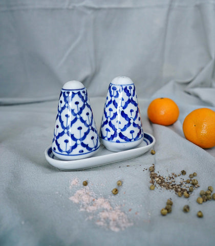 Ceramics - Blue & White Salt And Pepper Shaker