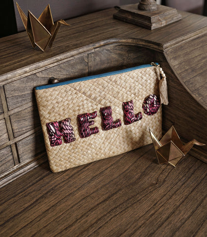 Clutch - Hello Embellished Clutch