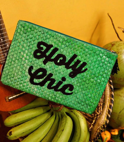 Clutch - Holy Chic Embroidered Pandan Clutch