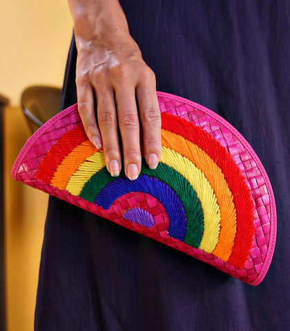 Clutch - Rainbow Pandan Clutch