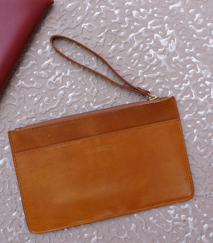 Clutch - Sobre Wristlet Leather Clutch