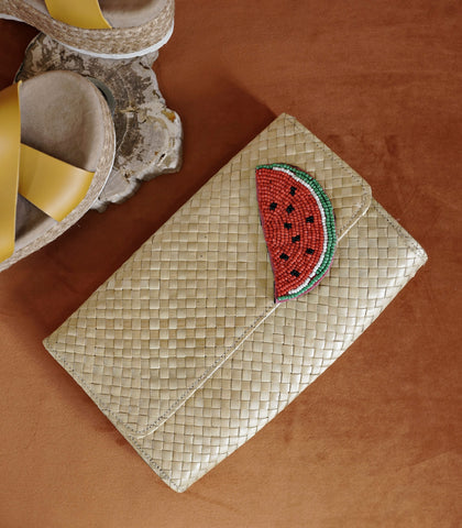 Clutch - Watermelon Embellished Clutch