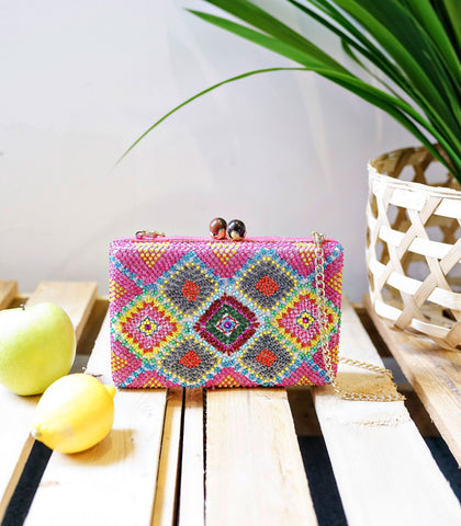 Clutch - Zarah Juan Marahuyo Leather And Hand Beaded Clutch