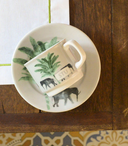 Cups And Saucers - Mammoth Chic Cups And Saucers (Set Of 4)