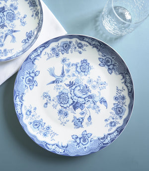 Dinnerware - Blue Lily Dinner And Salad Plate Set