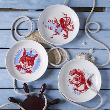 Dinnerware - Captain Nemo Dessert Plate Set