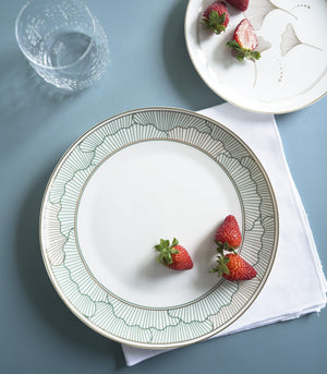 Dinnerware - Green Lily Dinner And Salad Plate Set