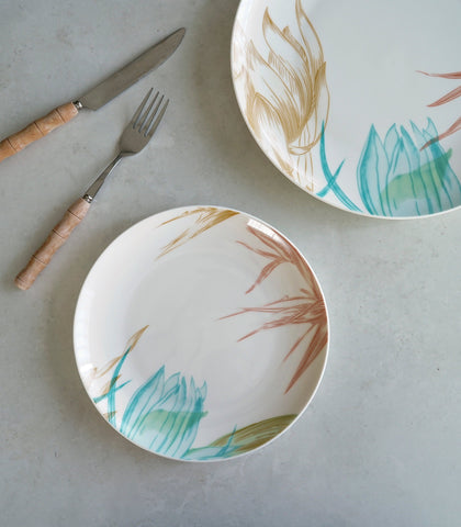 Dinnerware - Lotus Leaf Dinner Plate And Salad Plate Set (set Of 2)