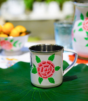 Dinnerware - Pink Chrysanthemums Tin Kitchenware