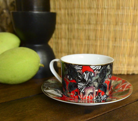 Dinnerware - Safari Cup & Saucer ( Set Of 4 )